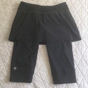 Athleta Black Skirt with Leggings Sz M